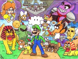 New Super Luigi Land by Villaman89