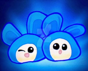 3DS Drawing 12 - Blue Squeakers by pandaserules97