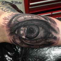 Eye tattoo by AtomiccircuS