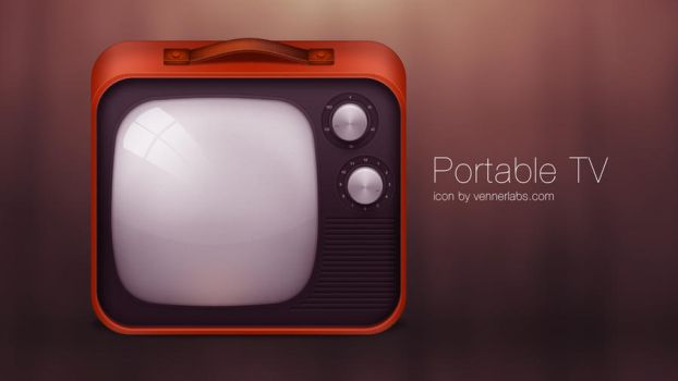 Portable TV icon by vennerconcept