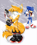 Sonic The Lost Memories - Sonic Vs Tails by SilverAlchemist09