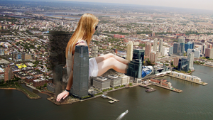 Giantess Ellie's Miscalculated Growth by dochamps