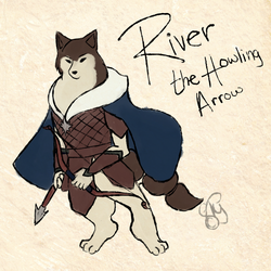 Quick Okami Style - River by TheYUO