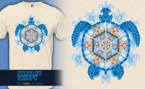 Turtley Trippy - t-shirt by InfinityWave