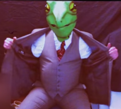 Inflating Frog in a Suit 3 by Froggyfroggy