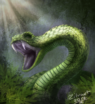 Snake daily draw 0015 by zilvart