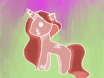Zombie... Unicorn... thing idk man by LaurieDaWolf