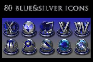 silver and blue collection by xylomon