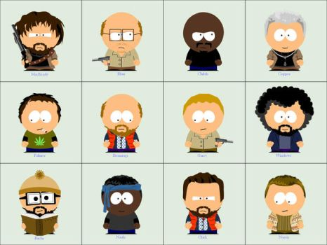 The Thing a la South Park by wait1989