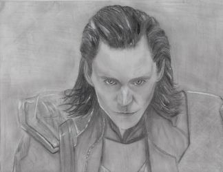 Tom Hiddleston as Loki of Asgard. by Aka-Llama