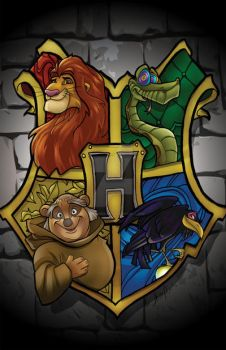 Hogwarts Disney Crest by CThompsonArt