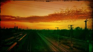 red sky by kumArts