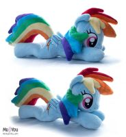 Rainbow Dash beanie plush by meplushyou