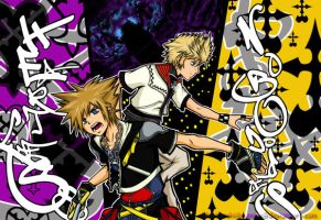 Sora and Roxas by allisonsp11MD