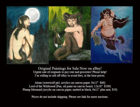 Paintings for Sale--Urgent! by The-IceKat