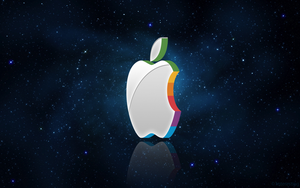 3D Apple Logo Wallpaper by 1nteresting