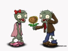 Zombies and Bananas :D by cassiopeian-mist
