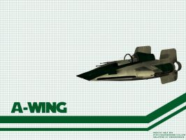 A-Wing Wallpaper by Aideon