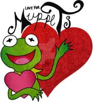 Kermit LOVE FOR MUPPETS by Amiki-Zorsez