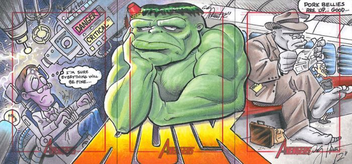 Hulk three card puzzle by andypriceart