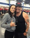 Michelle Rodriguez and Danny Trejo by AsliBayrak