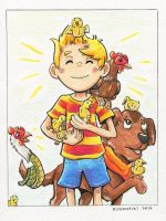 Lucas and his Chickens! - Gift by Kosmotiel