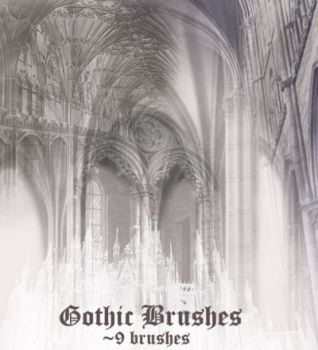 Gothic Brush Set by wyckedBrush