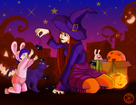 Her first Halloween by Ermy