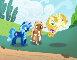 Three Little Ponies by SapphireGamgee