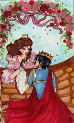 The young prince and princess by HeatherFoxe