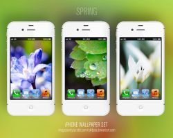 iPhone4(s) WP set | Spring by akibara