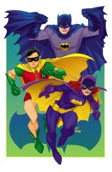 Bat-family for Baltimore Comic Con by gatchatom