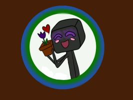 Flowerloving Enderman by Clanverwalter
