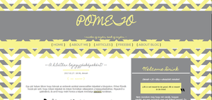 My blog's first design by Pometo