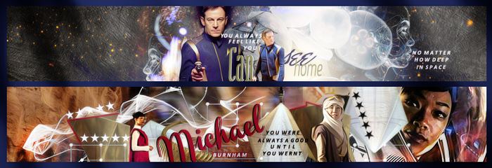 Star Trek Discovery Set of Banners by VaLeNtInE-DeViAnT