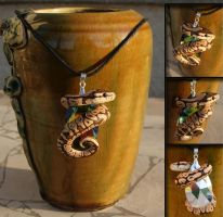 Ball Python Necklace by IllusionTree