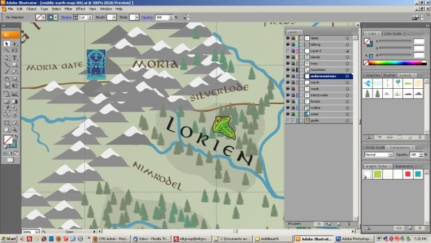 Middle Earth Map - WIP 003 by forbesrobertson