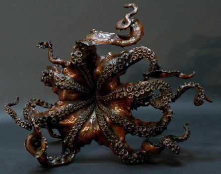 Octopus sculpture and table by bronze4u