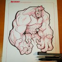 Commision: Hulk Saucy - Lineart by RobDuenas