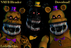 Nightmare Fredbear V2! by Lettuce-Boi