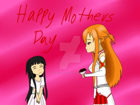Asuna and Yui -  Happy Mothers Day by LycanrockHeathcliff