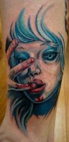 bloody girl by seanspoison