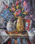 Still Life with Teapot and Fan by raysheaf