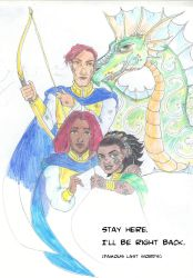 Exalted: Huntress and Viper by supremetechgoddess