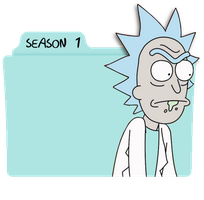 Rick and Morty Season 1 Folder Icon by DamionMauville