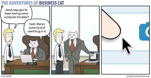 The Adventures of Business Cat - Bug by tomfonder