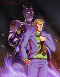 Yoshikage Kira and Killer Queen by Arabesque91