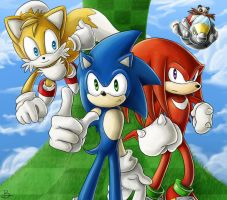 Sonic And The Team by lawlietlk