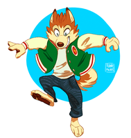 [MP100] Leaping pup by Rainie-Painie