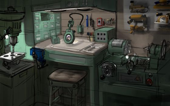 Buster's workshop by le-mec